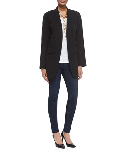 Fisher Project Long Lightweight Twill Jacket, Slub Organic Linen Jersey Long Tank & Organic Soft Stretch Skinny Jeans