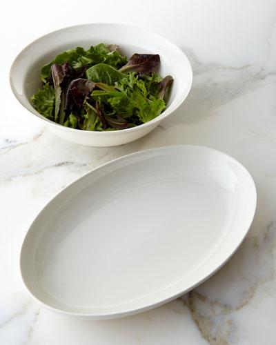 Opal Crackle Platter & Salad Bowl