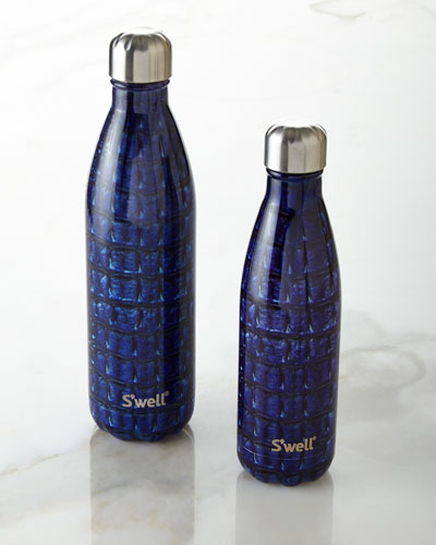 Navy Alligator Reusable Bottle