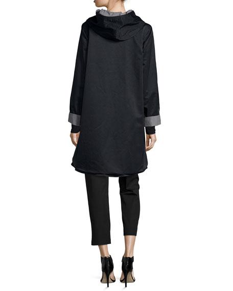 Reversible Hooded Rain Coat, Plus Size