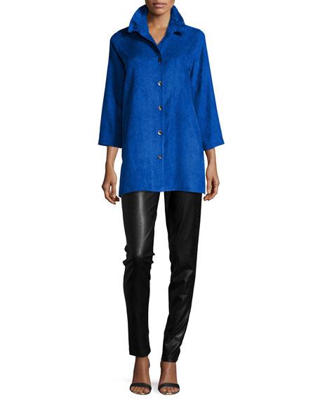 Caroline RoseFaux-Suede Long Shirt