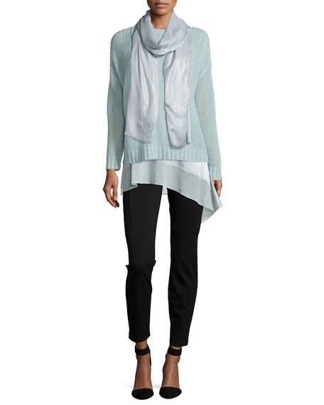 Eileen Fisher Stretch Silk Asymmetric Tunic