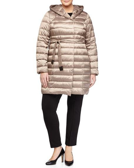 Marina Rinaldi Zermatte Quilted Belted Travel Jacket, Plus