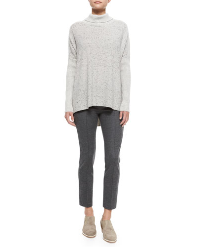 Catherine Cashmere Turtleneck Sweater & Polly Cropped Wool Pants