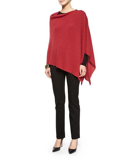 Eileen Fisher Long-Sleeve Silk Crewneck Tee