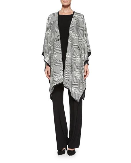 Caroline Rose 3/4-Sleeve Stretch-Knit Top, Plus Size