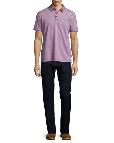 Rapino Slub Short-Sleeve Polo Shirt & Maine Straight-Leg Denim Jeans