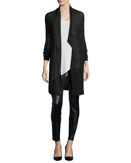 Eileen Fisher Silk Asymmetric Draped Shell