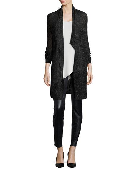 Eileen Fisher Silk Asymmetric Draped Shell