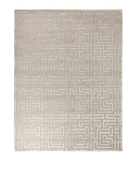 Silver Trellis Rug, 6' x 9'
