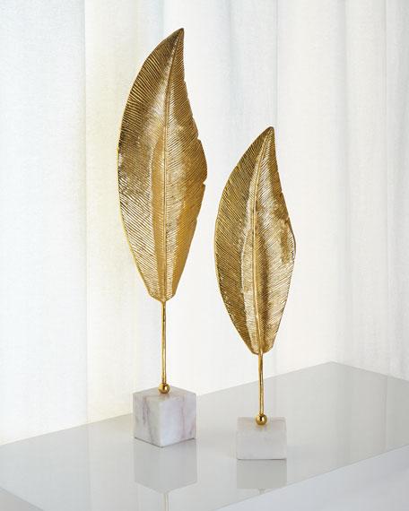 John-Richard Collection Tall Golden Leaf Sculpture