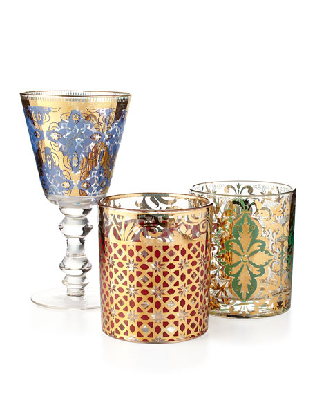 Milan Luxe Rock Glasses, Set of 4