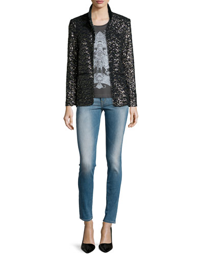 Volly Sequin Deluxe Jacket & Typsy Pigment Sleeveless top