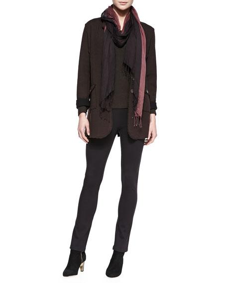 Eileen Fisher Rayon Knit Skinny Pants, Coffee