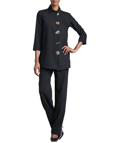 Stretch-Gabardine Travel Jacket & Pants, Women's