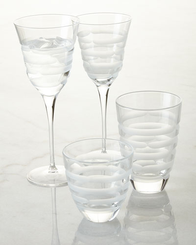 Vietri Optical Swirl Glassware