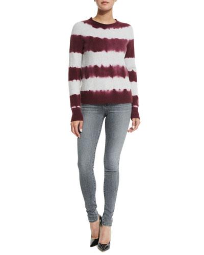 J Brand Jeans Mariposa Tie-Dye Striped Sweater &