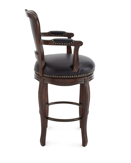 Roman Leather Counter Stool