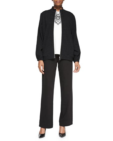 Joan VassFull-Length Pants, Black, Petite