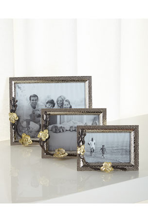 """Michael Aram Gold Orchid 8"""" x 10"""" Picture Frame Gold Orchid 5"""" x 7"""" Picture Frame Gold Orchid 4"""" x 6"""" Picture Frame"""