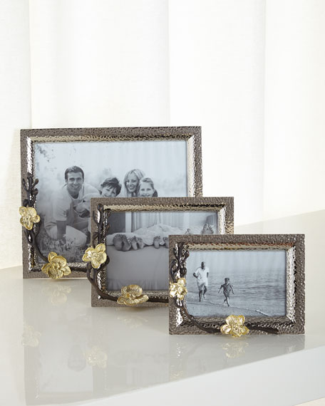 "Gold Orchid 8"" x 10"" Picture Frame"