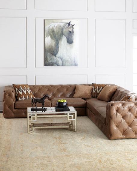 Bernhardt Brewster Three-Piece Leather Sectional