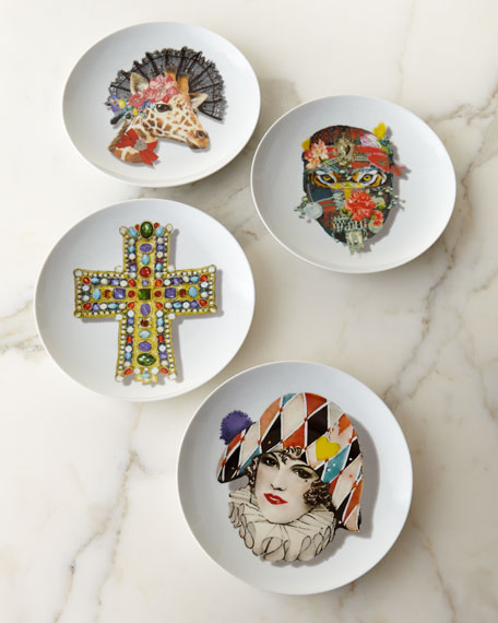 Christian Lacroix Love Who You Want Dessert Plates u0026 Matching Items | Neiman Marcus & Christian Lacroix Love Who You Want Dessert Plates u0026 Matching Items ...