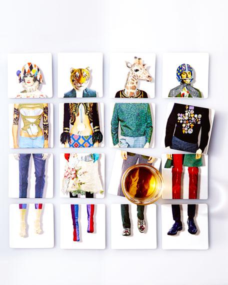 Miss Harlequin Coasters, 4-Piece Set