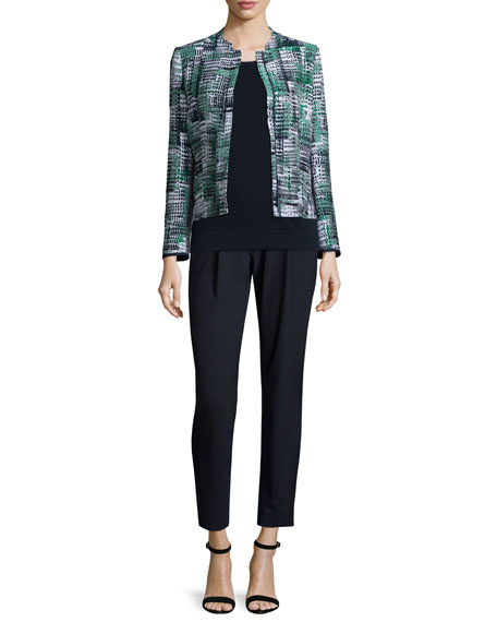 Lafayette 148 New York Marcy Zip-Front Printed Jacket