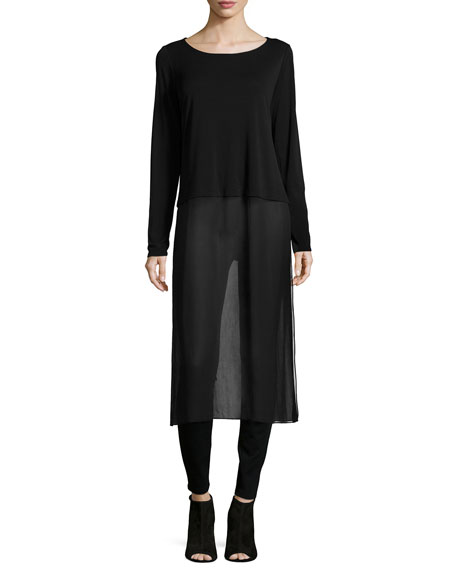 Eileen Fisher Long-Sleeve Duster W/ Slip
