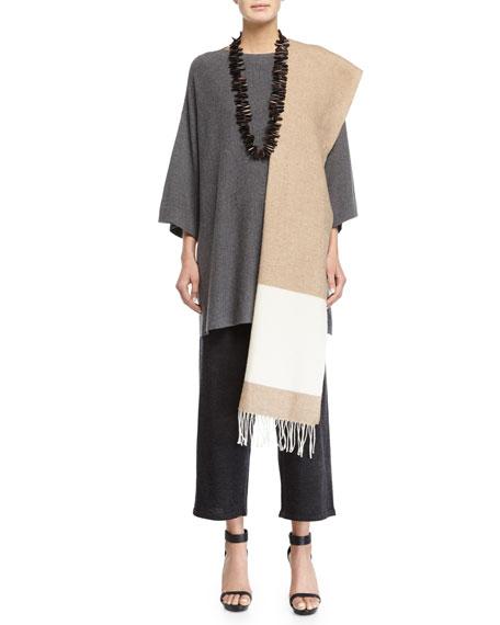 Eileen Fisher 3/4-Sleeve Luxe Wool Top, Plus Size