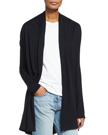 Knightsbridge Open-Front Sweater, Black