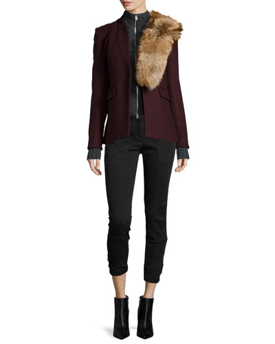 Stand-Collar Jacket, Dickeys, Fur Collar Accessory & Field Cargo Cropped Pants