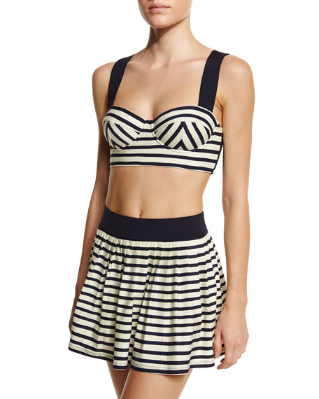 kate spade new york nahant shore striped underwire