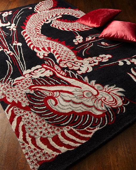 Black Dragon Rug, 9' x 12'