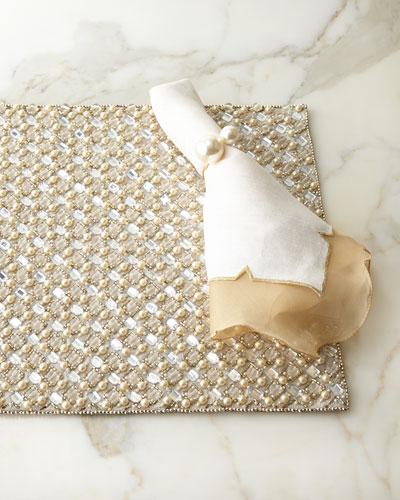 Diamond Placemat, Divot Napkin, & Pearl Napkin Ring