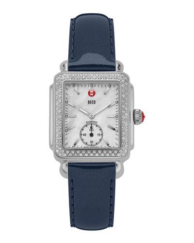 MICHELE Steel Deco Diamond Watch Head & 16mm