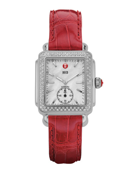 16mm Deco  Diamond Watch Head, Steel