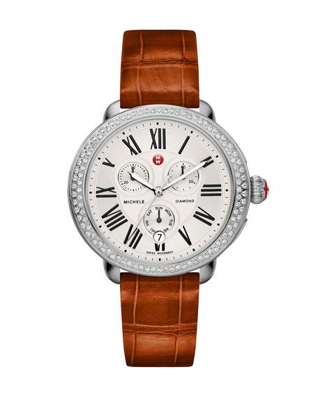 18mm Serein Diamond Watch Head, Steel