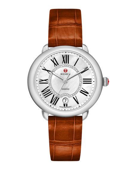 16mm Serein Diamond Dial Watch Head, Steel