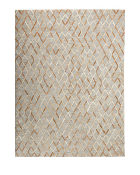 "Audie Sand Hairhide Rug, 7'9"" x 9'9"""