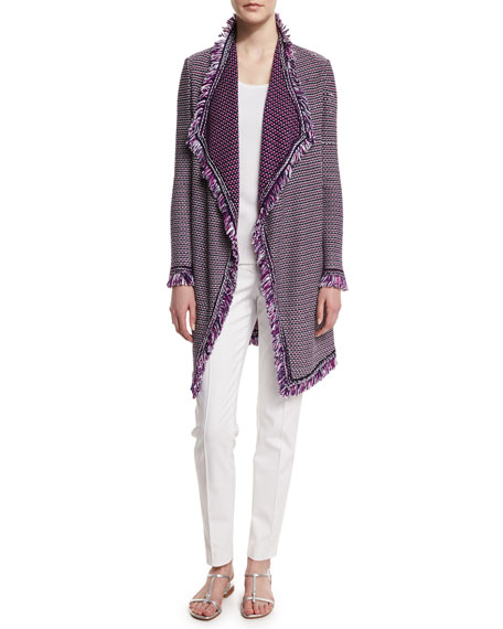 St. John Collection Mina Fringe Artisan Cardigan, Fiore/Multi