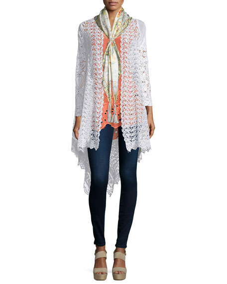 Johnny Was Collection Swirl Crochet Jacket