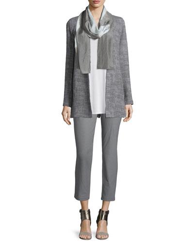 Eileen Fisher Crosshatch Tencel® Long Jacket, Long Silk