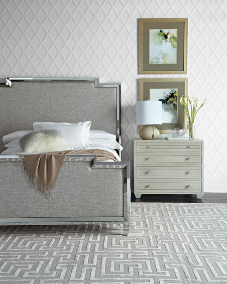Criteria Metal Trim Upholstered King Bed
