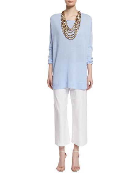 Eileen Fisher Organic Linen Fine-Gauge Tunic, Plus Size