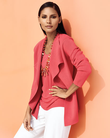 Open Interlock Jacket, Flora, Petite