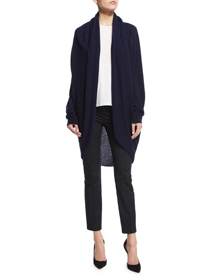 THE ROW Caro Cashmere-Silk Open-Front Cardigan, Lapis Blue
