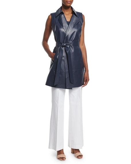Lafayette 148 New York Davis Sleeveless Silk Blouse