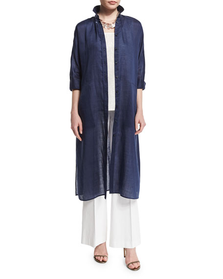Lafayette 148 New YorkGemma Cloth 3/4-Sleeve Long Duster